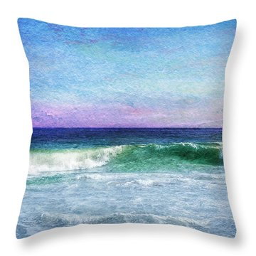 Summer Salt Throw Pillow by Laura Fasulo