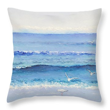 Summer Seascape Throw Pillow