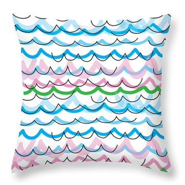 Summer Seaside  Throw Pillow