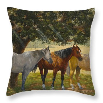 Summer Shade Throw Pillow