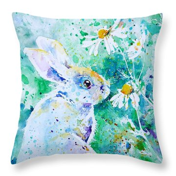 Summer Smells Throw Pillow by Zaira Dzhaubaeva