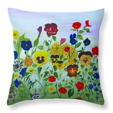 Summer Smiles Throw Pillow