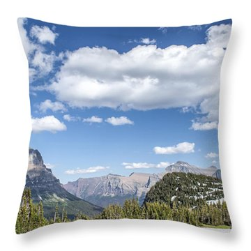 Summer Snow Throw Pillow