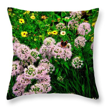 Throw Pillow featuring the photograph Summer Song by Zafer Gurel