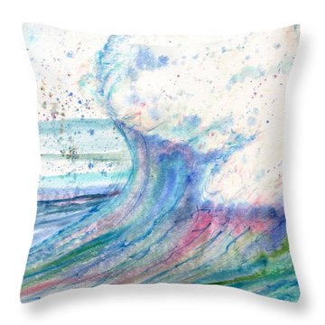 Summer Spray Throw Pillow