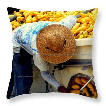 Summer Squash Throw Pillow by Karen Wiles