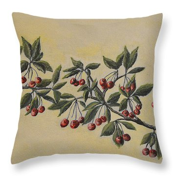 Summer Stay... Throw Pillow by Felicia Tica