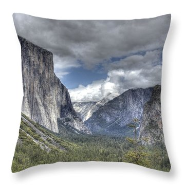 Summer Storm At Yosemite Throw Pillow