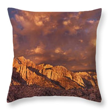 Throw Pillow featuring the photograph Summer Storm Clouds Over The Eastern Sierras California by Dave Welling