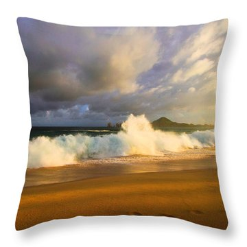 Throw Pillow featuring the photograph Summer Storm by Eti Reid