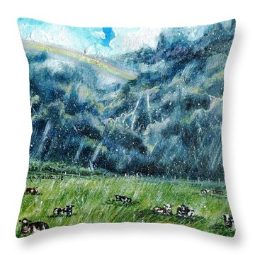 Summer Storm Throw Pillow by Shana Rowe Jackson