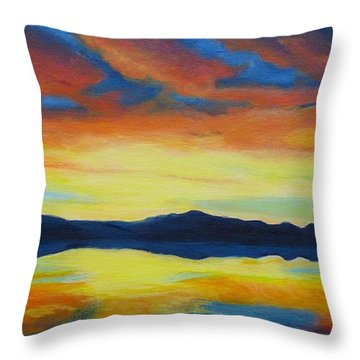 Summer Storms Throw Pillow by Alicia Fowler