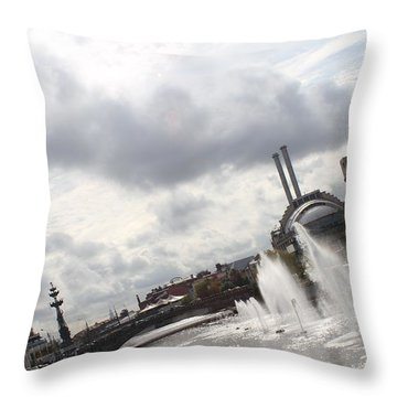 Summer Streams Throw Pillow