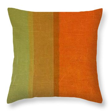 Summer Stripes Throw Pillow by Michelle Calkins