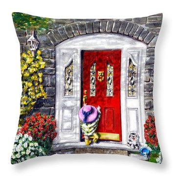 Throw Pillow featuring the painting Summer Sun by Ron Haist