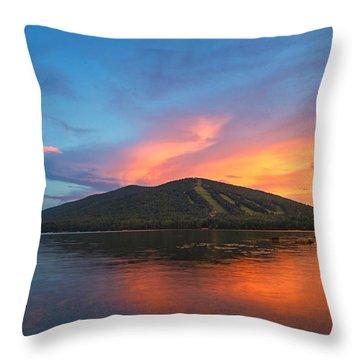 Summer Sunset At Shawnee Peak Throw Pillow
