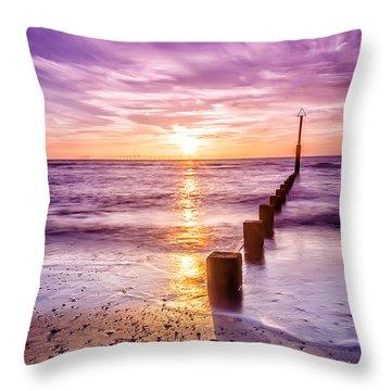 Summer Sunset Throw Pillow by Darren Wilkes
