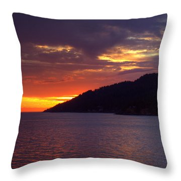 Summer Sunset Throw Pillow by Randy Hall