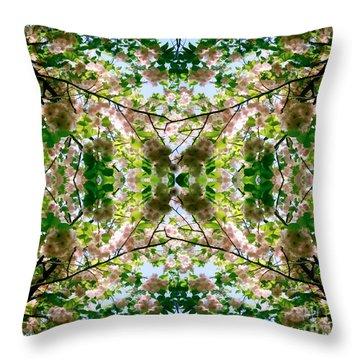 Summer Symmetry Throw Pillow