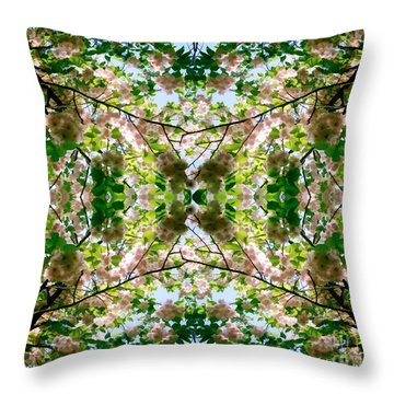 Summer Symmetry Throw Pillow