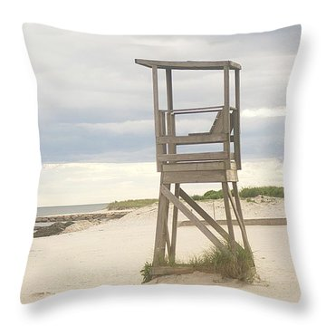 Summer Throne Lifeguard Chair Throw Pillow by Suzanne Powers