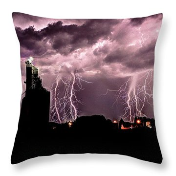 Summer Thunder And Lightening Throw Pillow
