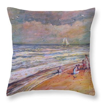 Summer Vacations Throw Pillow
