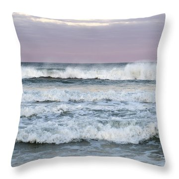 Summer Waves Seaside New Jersey Throw Pillow by Terry DeLuco
