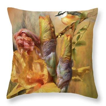 Summer Wonders Throw Pillow by Carol Cavalaris