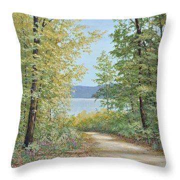 Summer Woods Throw Pillow