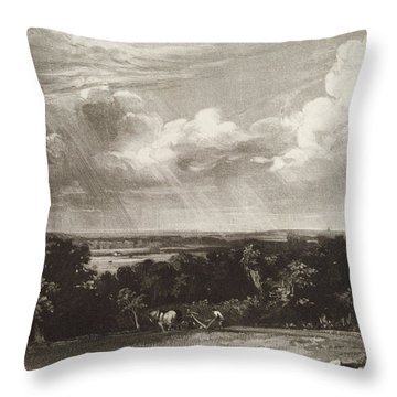 Summerland, Engraved By David Lucas 1802-81 Mezzotint Throw Pillow