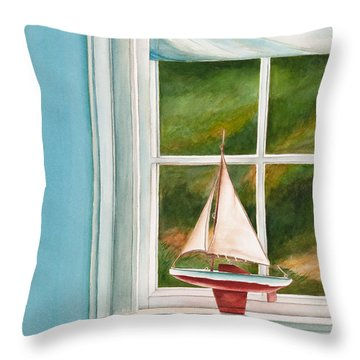 Summers At The Beach Throw Pillow by Michelle Wiarda