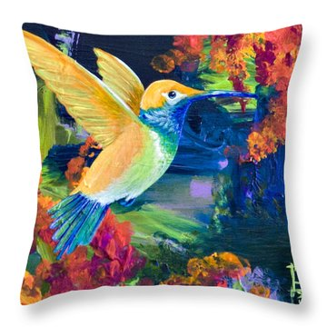Summers Bounty Throw Pillow by Tracy L Teeter