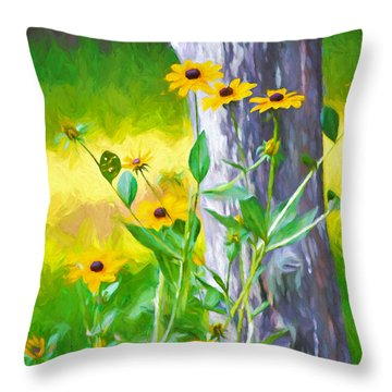 Summers Colors Throw Pillow