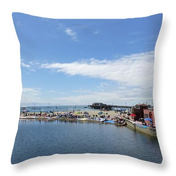 Summers End Capitola Beach Throw Pillow by Amelia Racca