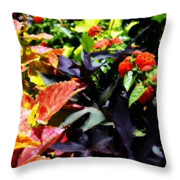 Throw Pillow featuring the photograph Summers Floral Colors by Deborah Fay