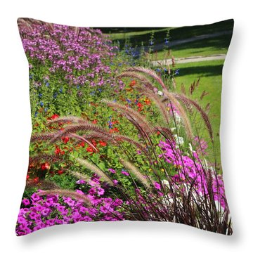 Summer's Garden Throw Pillow