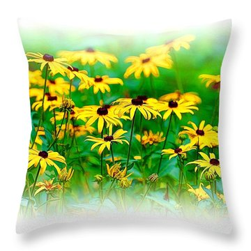 Throw Pillow featuring the photograph Summertime 7 by Ludwig Keck