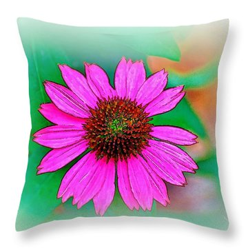 Throw Pillow featuring the photograph Summertime 8 by Ludwig Keck