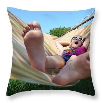Summertime And The Livin' Is Easy Throw Pillow by Laura Fasulo