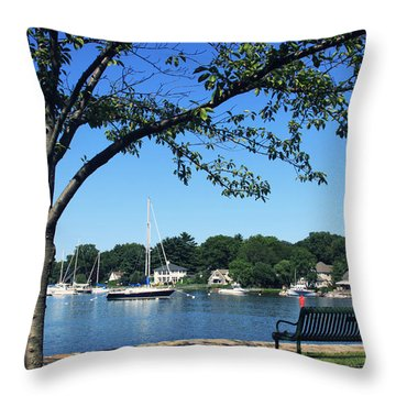 Throw Pillow featuring the photograph Summertime At The Marina by Aurelio Zucco