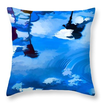 Summertime Blue Throw Pillow by Robyn King