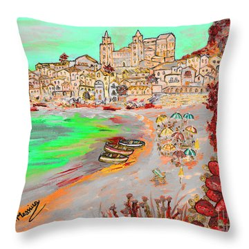 Summertime In Cefalu' Throw Pillow