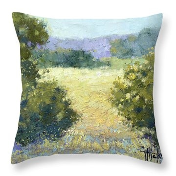 Summertime Landscape Throw Pillow