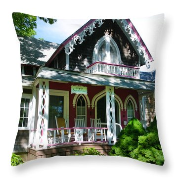 Summertime On The Vineyard Throw Pillow by Michelle Wiarda