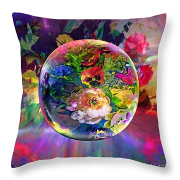 Throw Pillow featuring the painting Summertime Passing by Robin Moline