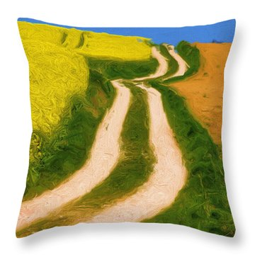 Summertime Sadness Throw Pillow by Ayse Deniz