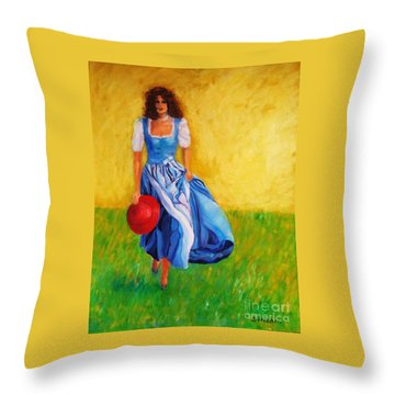 Summerwind Throw Pillow by Dagmar Helbig