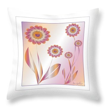 Summerwork Duvet Cover And Pillow Throw Pillow by Iris Gelbart