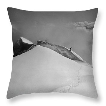T-702412-bw-summit Of Mt. Robson Throw Pillow
